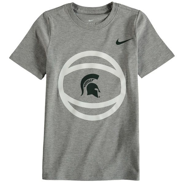 Michigan State Spartans Nike Preschool Basketball and Logo T-Shirt - Gray - $19.99