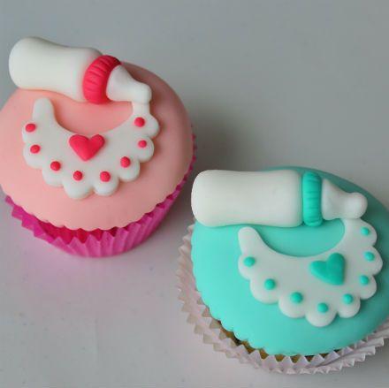 baby shower cupcakes niña - Buscar con Google