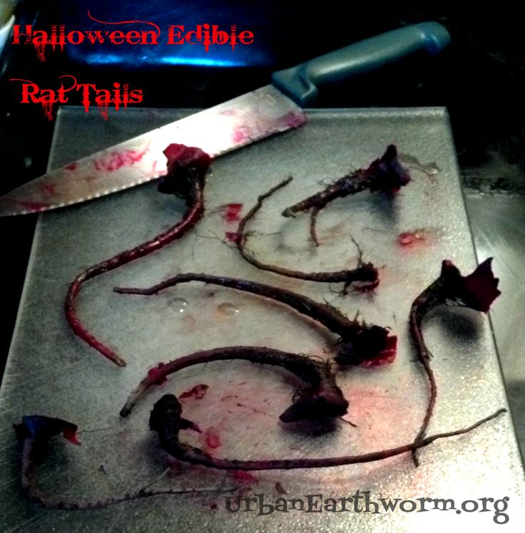 Edible Rat Tails (one ingredient: Beets) as Halloween Food or for a Halloween Party