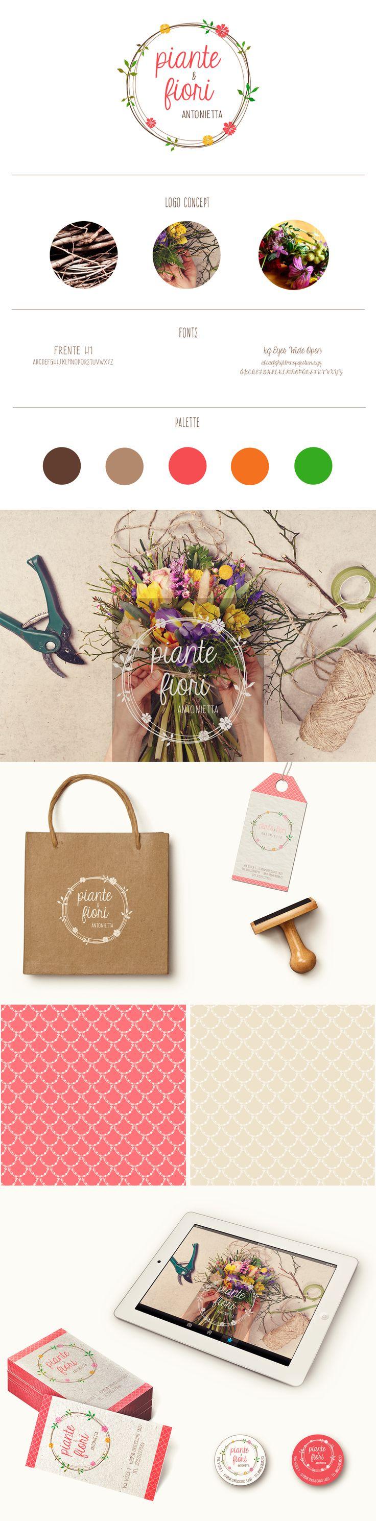 Florist branding. #logo #branding #flowershop