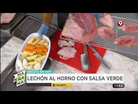 Receta de hoy: lechón al horno con salsa verde y berenjenas al escabeche - YouTube