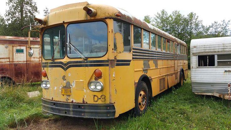 1965 GILLIG 35' SCHOOLIE SCHOOL BUS RV CONVERSION WOOD