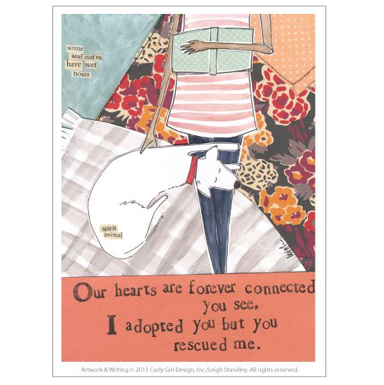 You Rescued Me Card by Curly Girl Design