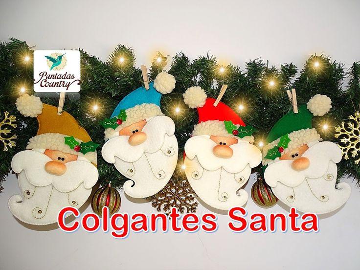 Aprende a realizar estos hermosos colgantes de Santa, personaje que no puede faltar en época de Navidad. Recuerda que los moldes podras descargarlos en nuest...