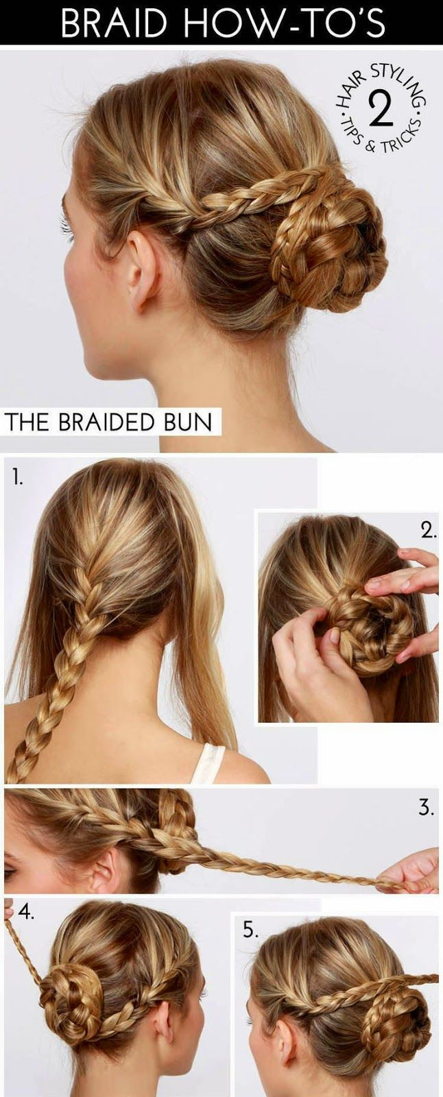 The braid fun continues with this week's braid how-to: the braided bun!