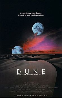 Dune is a 1984 science fiction film written and directed by David Lynch, based on the 1965 Frank Herbert novel of the same name.