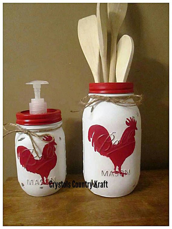 Rooster Kitchen Canister Sets Farm Animal Decor Soap