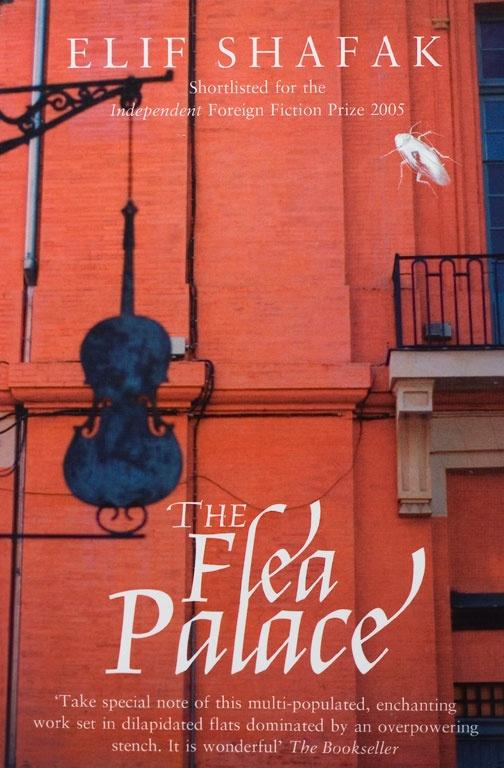 The British cover of the Flea Palace (Marion Boyars). Bit Palas'ın İngilizce baskısının kapağı (Marion Boyars).
