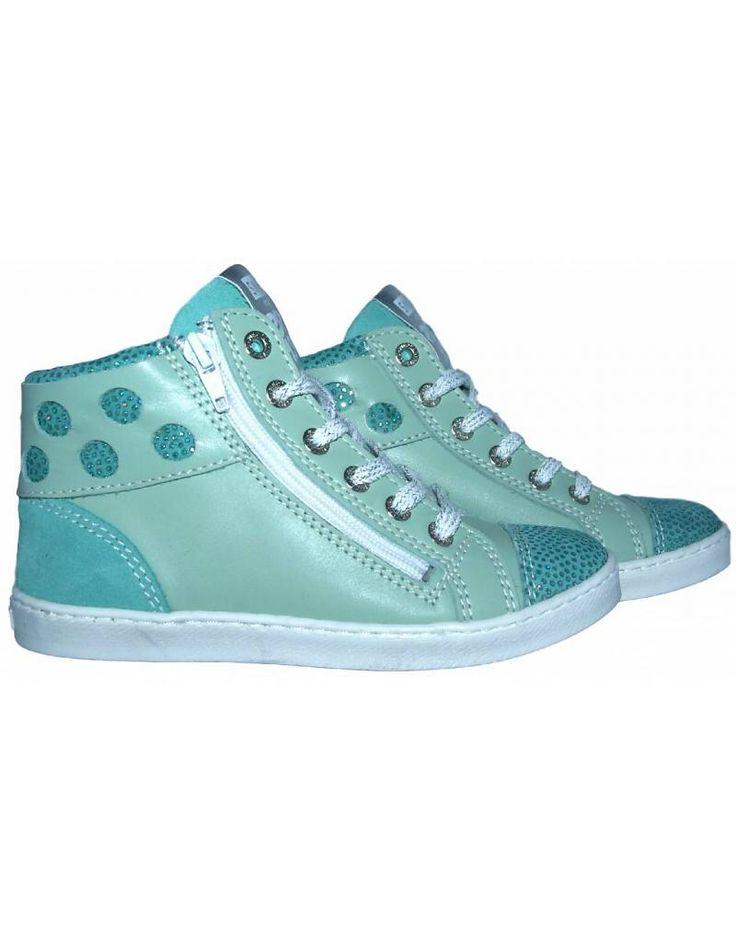 Piedro Sneaker - turquoise met glitters. Sale €49,95