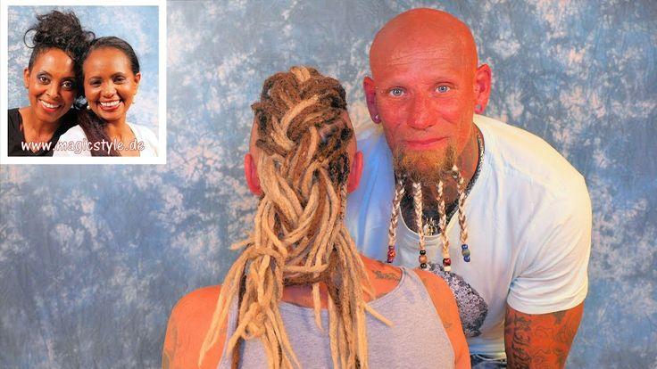 Caro & George: Coole Dreadlocks und  fetzige Braids für den Bart :)