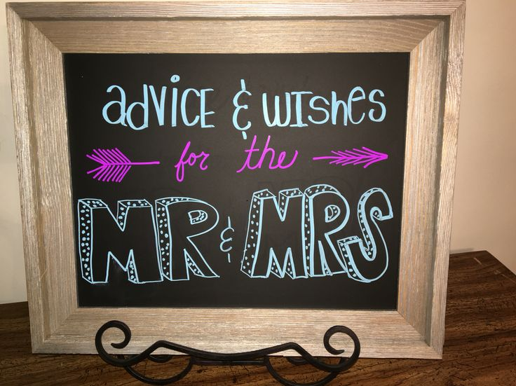 Advices and wishes for the bride and groom