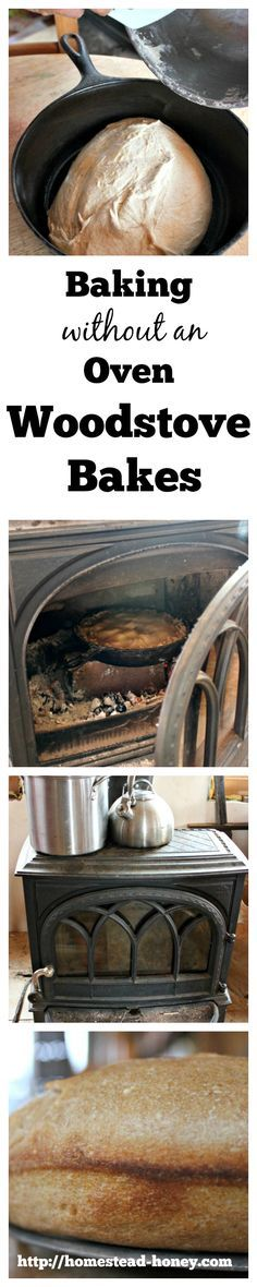 No oven? No problem!  Our family has lived for two years without an oven in our home and has come up with creative and simple ways to bake without an oven, including baking in our wood stove!    Homestead Honey