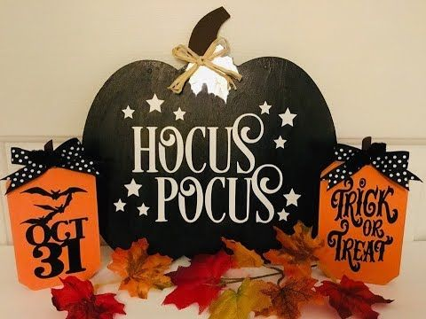 DIY Dollar Tree Fall Decor turned into Halloween D…
