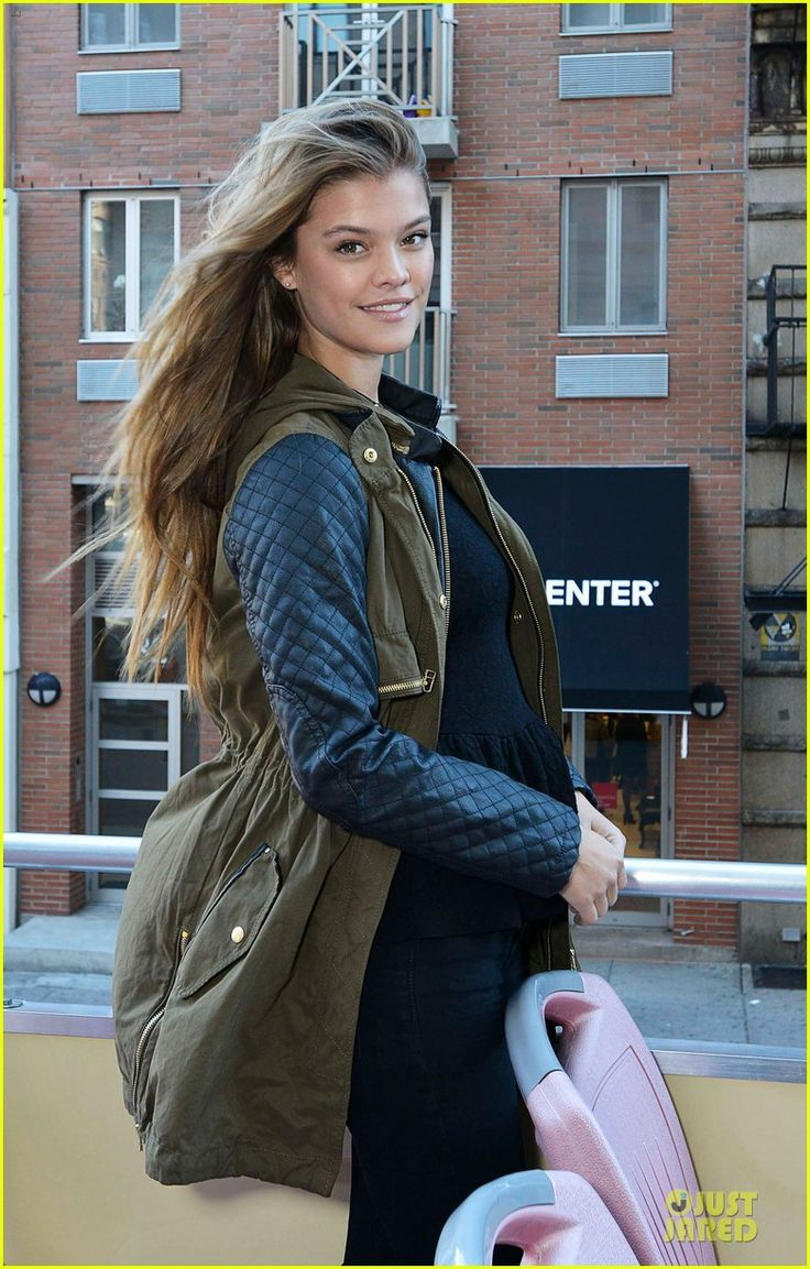 Nina Agdal while hosting a tour on European Wax Center's Bum Bus in New York City. #Hollywood #Fashion #Style #Style