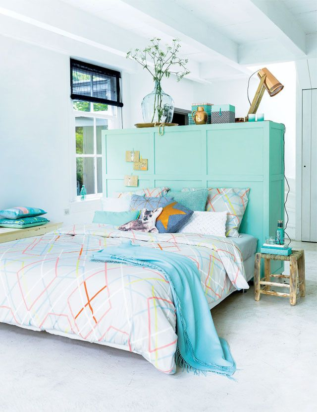 Love these colours for bedroom