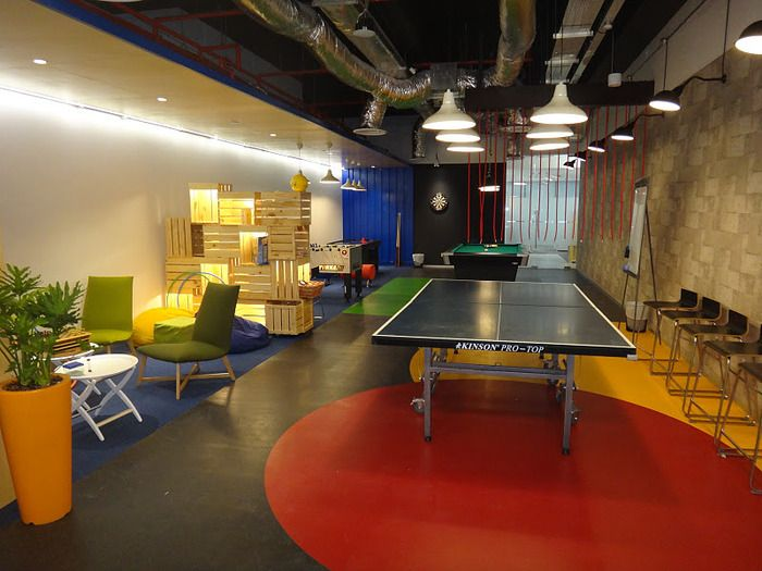 office game room. google office in singapore game room s