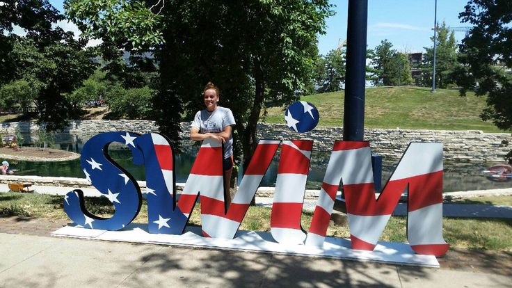 Milford High grad Maddy Garber in Omaha, NE for the USA swimming Olympic trials