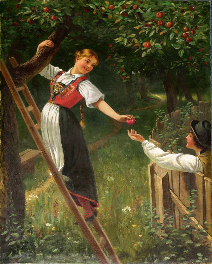 Art by the Norwegian painter Hans Dahl