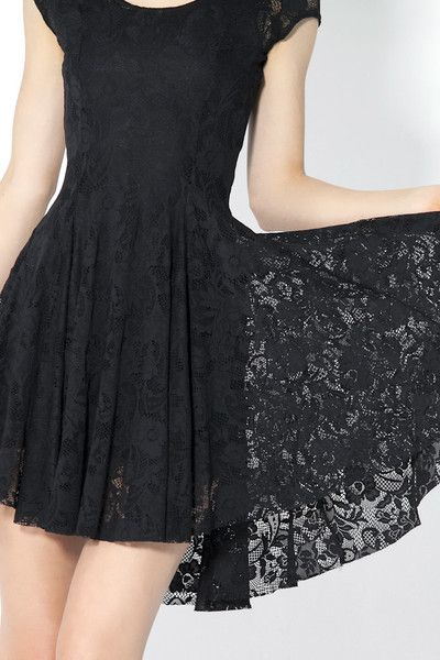"""Black Milk calls it their """"Evil Cheerleader"""", a limited edition black lace dress that screams RACES!"""