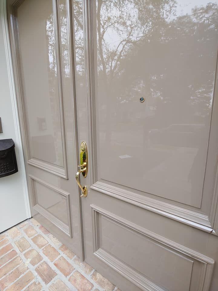 High Gloss Front Door In Gray In 2020 Fine Paints Of Europe Door Paint Colors Painted Doors