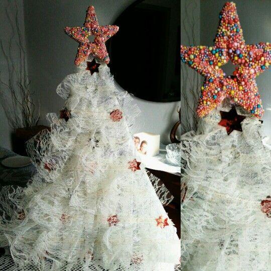Diy lace christmas tree!