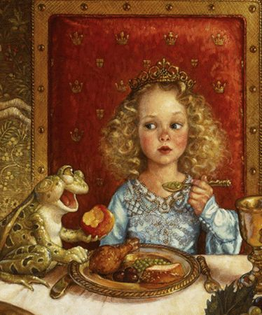 I love this illustration of The Frog Prince by Scott Gustafson.  The look on the princess's face is priceless!