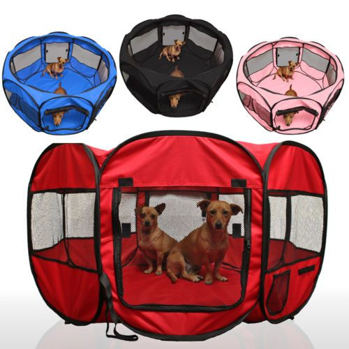 OxGord-45-Pet-Dog-Cat-Playpen-Tent-Portable-Exercise-Fence-Kennel-Cage-Crate