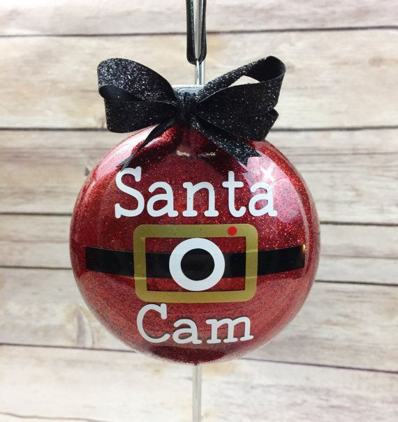 Santa Cam Christmas Ornament  Santa Claus by ShowerThemWithGifts1                                                                                                                                                                                 More