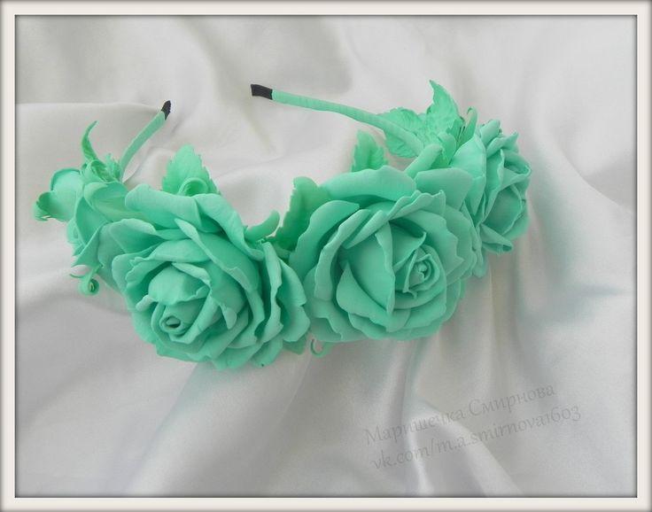Моя работа. Маришечка Смирнова .  Eva foam Flowers . Flowers with their hands .Ревелюр ,фоамиран .Украшение для волос с цветами .