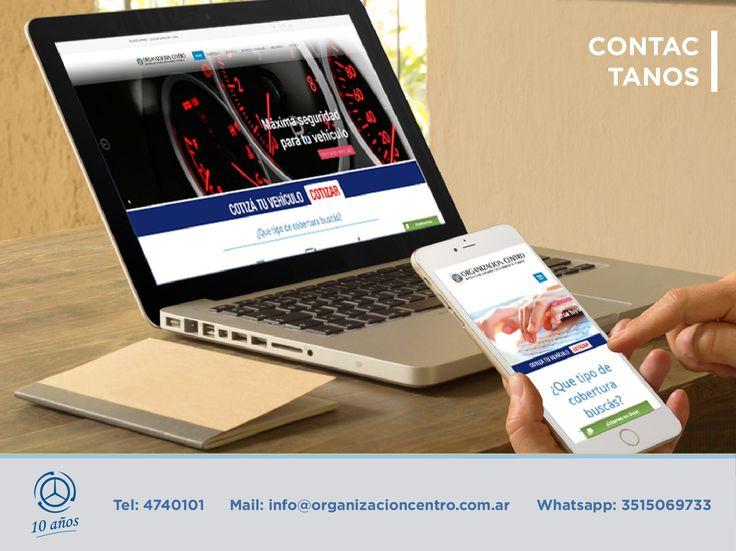 Pieza 800px x 600. #Contacto. Organización Centro.