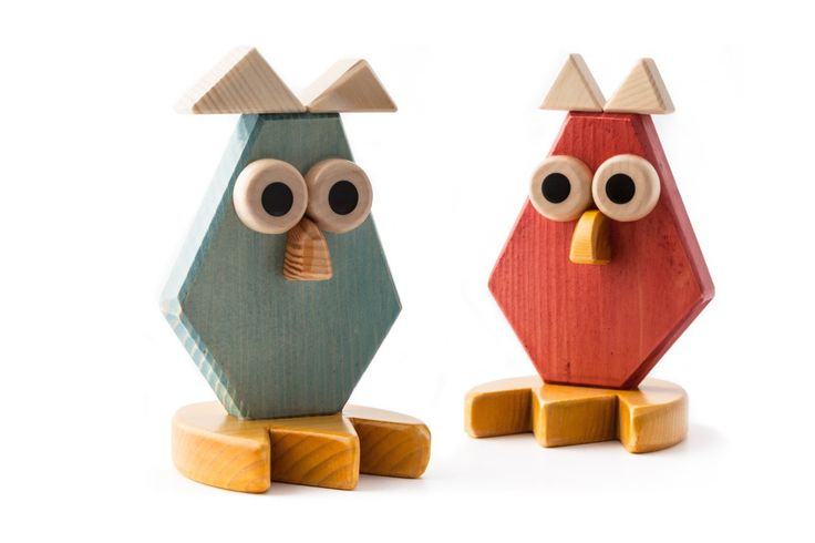 "CREAZIONI MAESTRODASCIA ""Owl"", wooden sculpture, approximately 16 cm (6 inches) high: Amazon.co.uk: Kitchen & Home"
