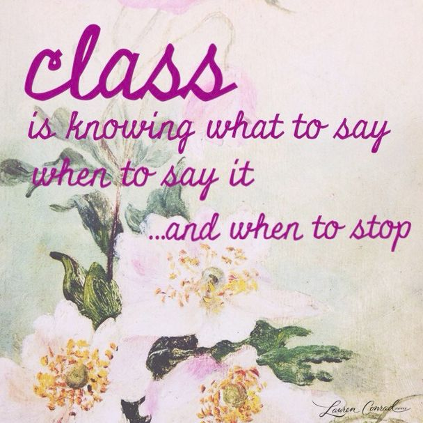 my definition of class...