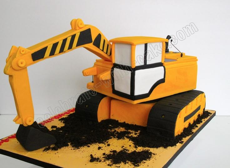excavator cake | Celebrate with Cake!: Excavator Cake