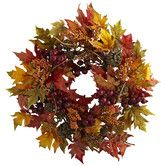 Found it at Wayfair - Nearly Natural Maple and Berry Wreath