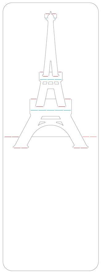 Manualidades, Bricolaje, Artesanía, Origami, Papiroflexia, Pop up, Paper Toys, Viajes, Tutoriales.: Origami - Papiroflexia 3D. Torre Eiffel tarjeta.