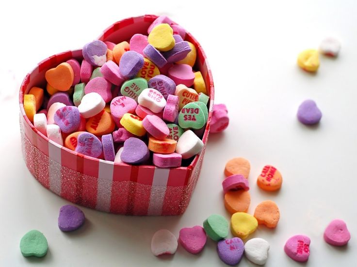 08ed5c3282b07fd749ee460ed69ca25b candy hearts jelly hearts - Fancy Valentine Day Dinner Ideas For Kids With Candy Full Color Love Pattern / S...