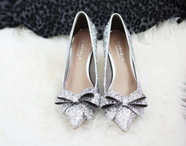 pointed toe silver sparkle flats wedding pinterest shoes toe