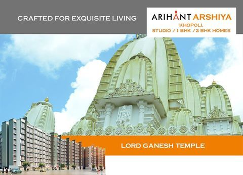 Arihant Arshiya Studio, 1 & 2 BHK Homes, Khopoli Lord Ganesh Temple http://www.asl.net.in/arihant-arshiya.html #ArihantArshiya #RealEstate #Property #Homes #Khopoli