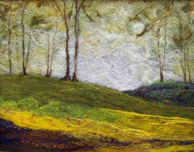 landscape #629 Golden Hills | Deebs Fiber Arts