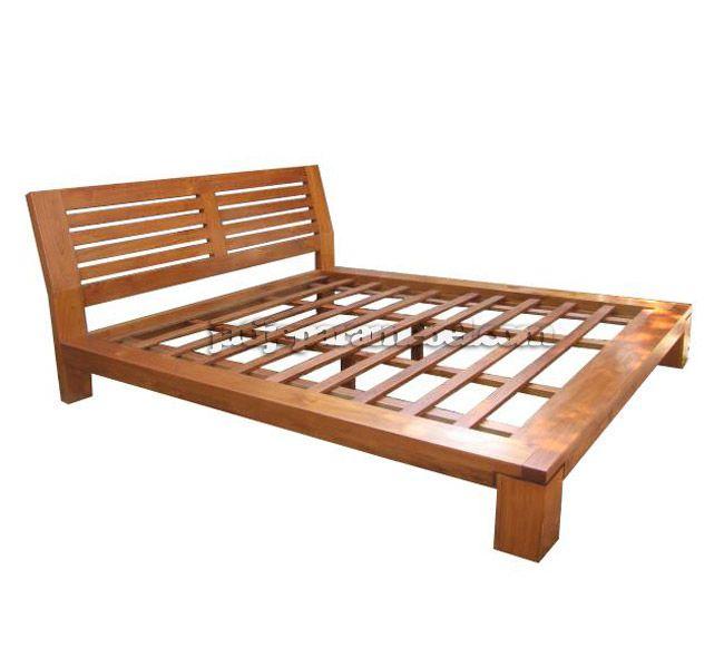 Tempat Tidur Jati Minimalis Gisela  Kode : JJM-TT 002  K size (cm): 200 x 180 x 97  Q size (cm): 200 x 163 x 97  Bahan : Kayu Jati
