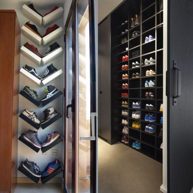 Espaço dedicado para sapato. Mais