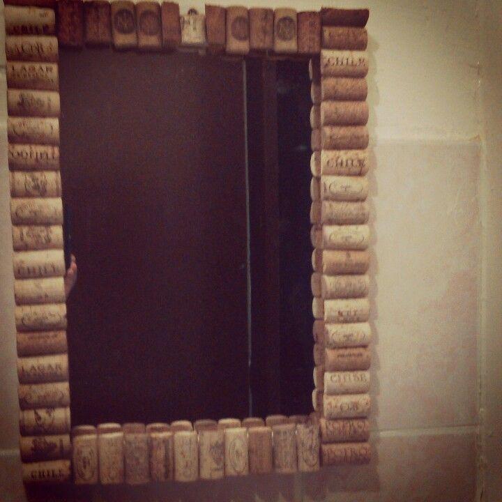 Espejo con corchos #cork