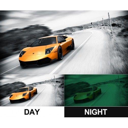 Tablou modern luminos pe panza - Lamborghini galben - Unic in Romania - PROMOTIE