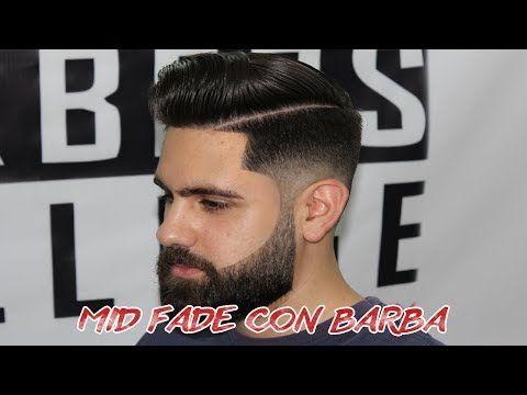 Tutorial Como Hacer Un Mid Fade Con Barba / Parte 1 - YouTube