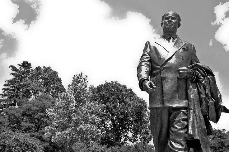 "John A. Hannah Statue:  ""The University is an integral part of a social system that has given more opportunity, more freedom, more hope to more people than any other system yet devised."" ~John A. Hannah, State of the University Address, February 12, 1968"