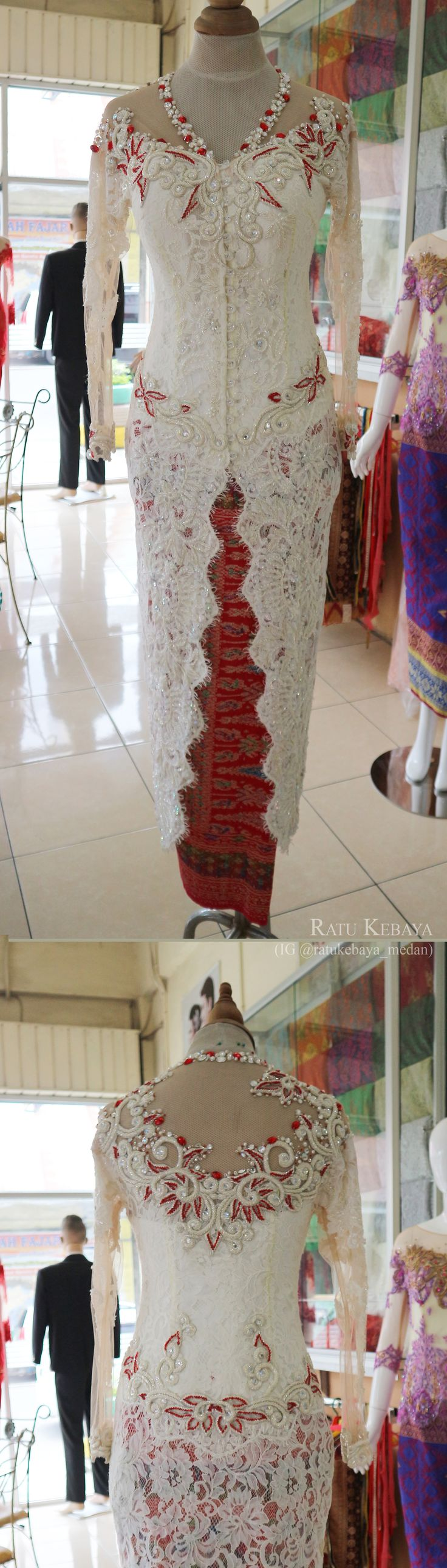 Kebaya pengantin (IG @ratukebaya_medan)