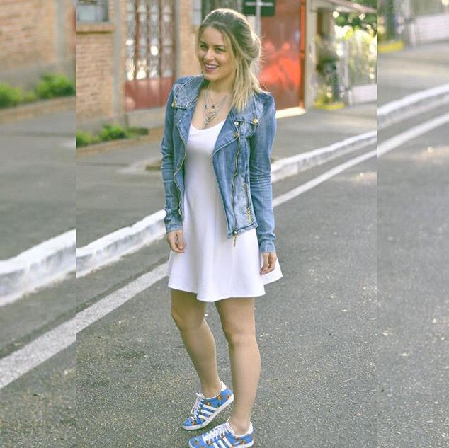White dress / tênis/ look do dia / Adidas Farm / casual / Sherons/ Andressa Almeida
