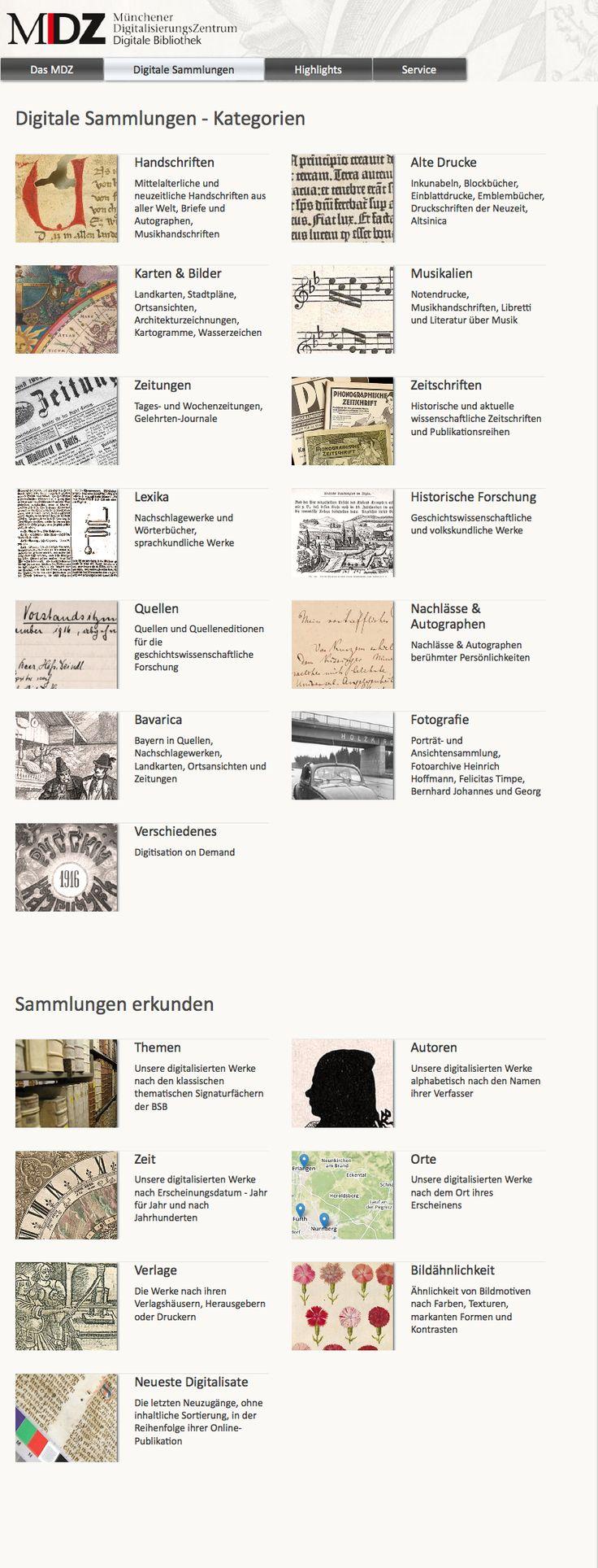 Handschriften, Alte Drucke, Karten & Bilder, Musikalien, Zeitungen, Zeitschriften, Lexika, Historische Forschung, Quellen, Nachlässe & Autographen, Bavarica, Fotografie, Verschiedenes, Digitale Sammlungen