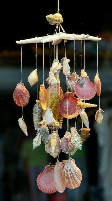 Shell Chimes would look great for any beachy summer house.