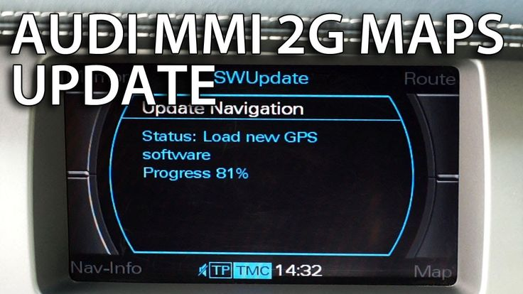 How to update #Audi MMI 2G maps (#GPS navigation #A4 #A5 #A6 #A8 #Q7)